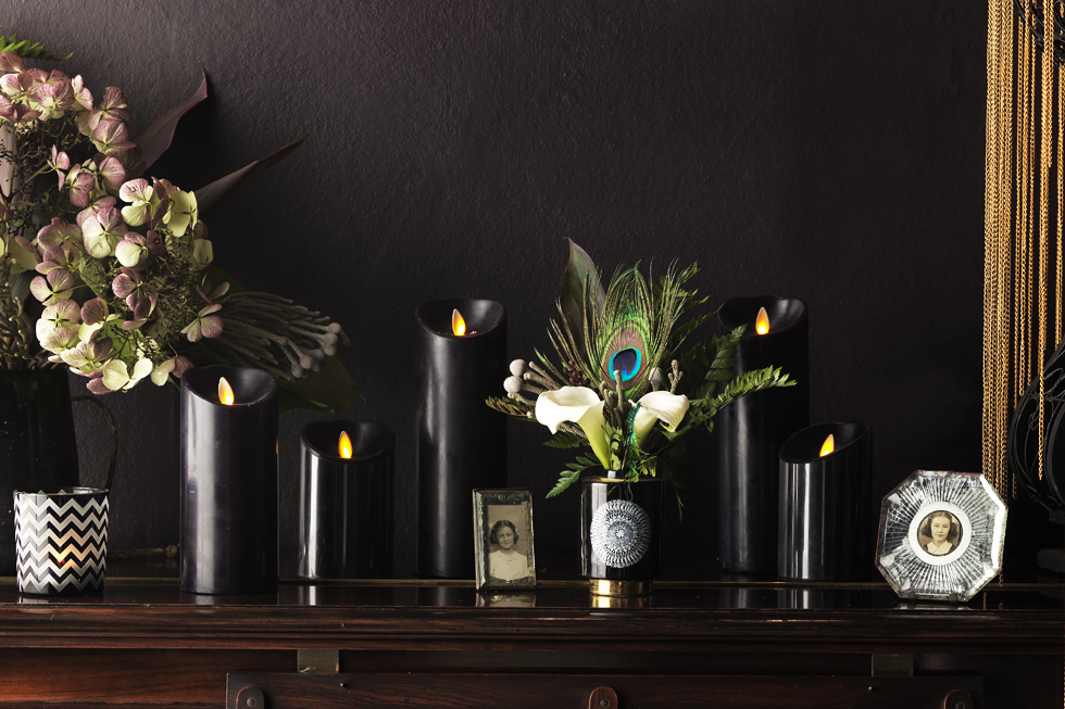 LUMINARA LED BLACK CANDLES