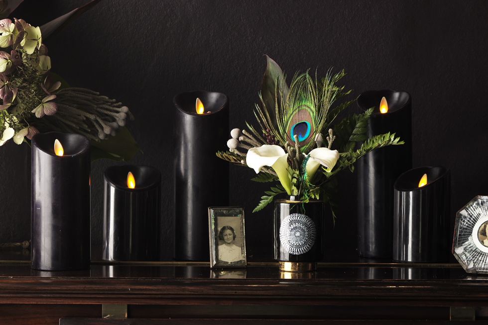 LUMINARA MEDIUM LED BLACK CANDLE