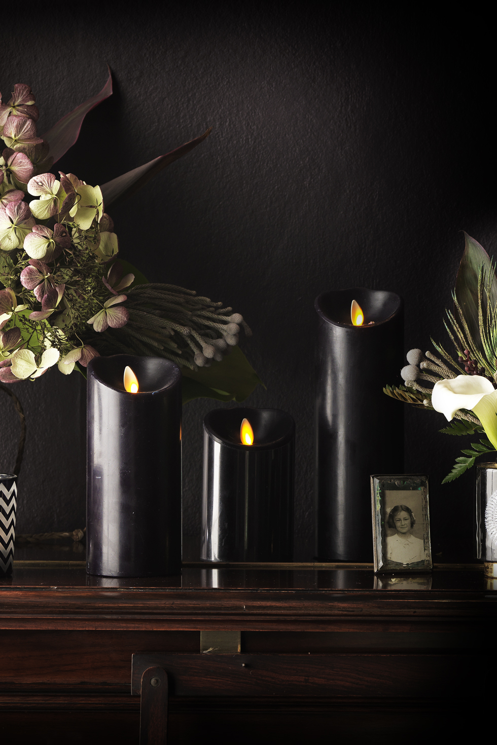 LUMINARA LED BLACK CANDLE