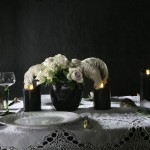 Vintage Dining!  Add atmosphere with our Black Led LUMINARA Candles @BRAVE BOUTIQUE