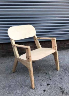 Up-Cycled Original Wooden Armchair by Ollie Allen