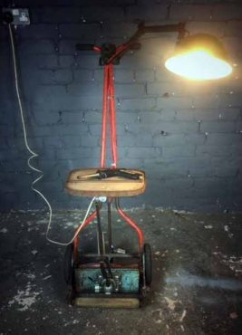 Up-Cycled Lamp by Mark Haig