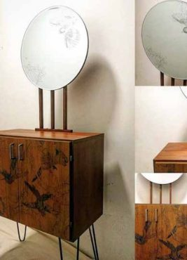 Mini Sideboard with Etched Mirror by Daniel Heath, of BBC's Money for Nothing
