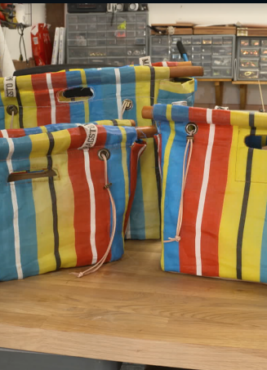 BBC'S MONEY FOR NOTHING UP-CYCLED …Set of 3 Cool Bags by Neil Wragg.